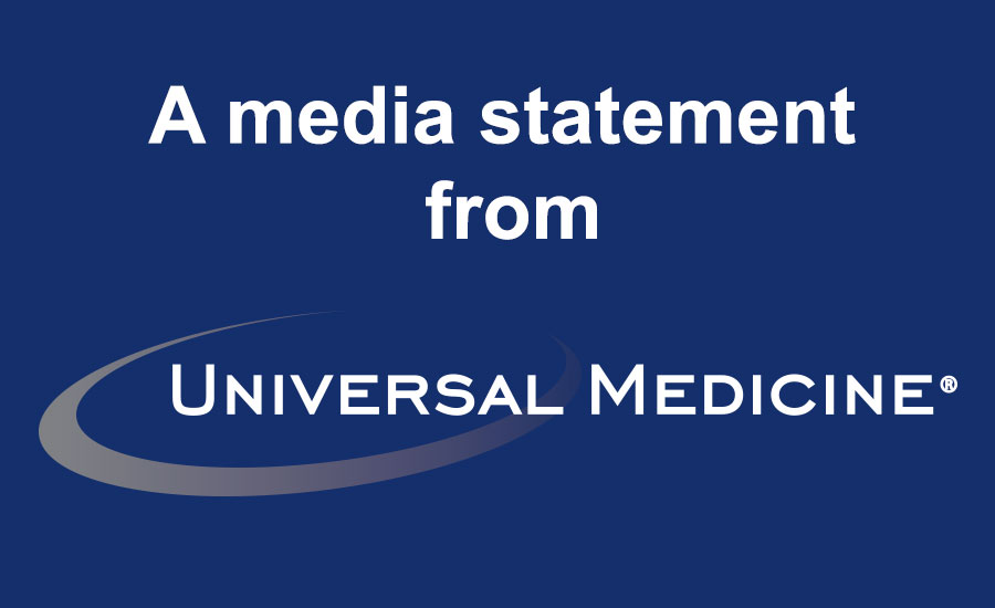 Universal Medicine Media Statement