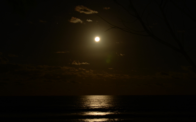 full moon at Lennox Head